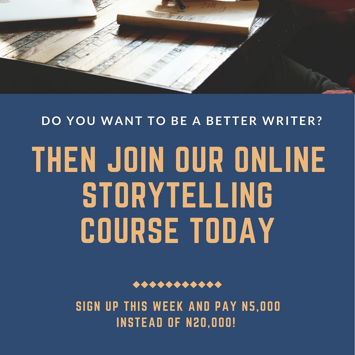 Registration for Online Storytelling Course